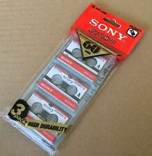 New Sony MC-60 MC60 Microcassette Blank Cassette Tape Disc 60 min 3 pcs Tapes