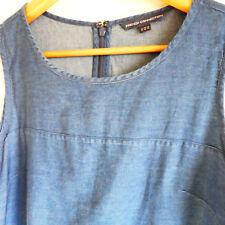 French connection denim blue dress size 14