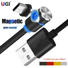 Magnetic Charger Micro USB Cable For iPhone Samsung Android 90° Charging Cord