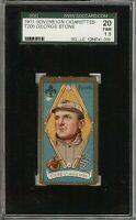 Rare 1911 T205 Gold Border George Stone Sovereign St. Louis SGC 20 / 1.5