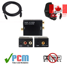 Ultra Compact Professional Digital to Analog Audio Converter w/ 6' Toslink Cable