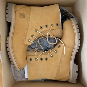 TIMBERLAND FLEECE FOLD DOWN WHEAT NUBUCK BOOTS Sz 7