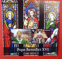 2014 St VINCENT POPE BENEDICT BEQUIA STAMP MINI SHEET 2