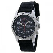 SEIKO Chronograph Men's Watch Black SND399P New Free ship From Japan