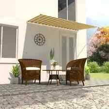 Vidaxl Tenda da sole Retrattile 250x150 cm Giallo Bianco Parasole ombreggiante