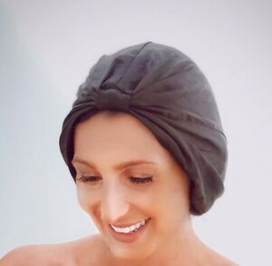 Pure Silk Sleeping Cap Turban. 100% Silk. Breathable. Most luxurious Silk.