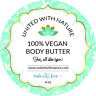 United With Nature Body Butter with Shea! 4 Oz- All-Natural!  100% vegan