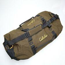 "NEW Cabela's 36"" Inch Heavy Duty Canvas Travel Luggage Duffle Bag Black Tan"