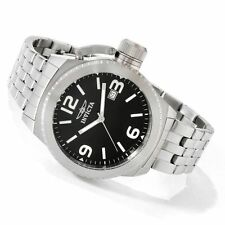 New Invicta 0987 Corduba Swiss Black Dial Stainless Steel Watch