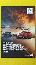 BMW M3 Saloon M4 Cabriolet Coupé les ventes automobiles brochure catalogue juin 2017 Comme neuf