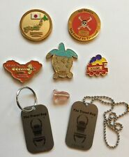 Assorted Vintage Lot Geocaching Coins - Travel Bugs JAPAN PIRATE TRAIN