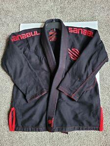 Black and Red Sanabul Gi Top Only   BJJ MMA Judo UFC Jiu Jitsu   Size A1