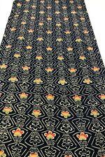 @@160 cm  /Japanese kimono silk fabric/vintage/navy blue, plum Q59