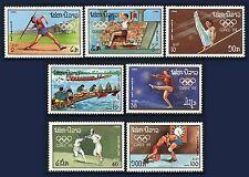 LAOS N°876/882** Jeux olympiques Séoul javelot, escrime...1988,  Olympics MNH