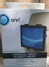 """New ONN Universal Tablet Vehicle Car Truck Headrest Mount 7"""" x 10""""  Adjustable"""