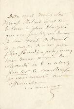 EUGENE SUE LETTRE AUTOGRAPHE SIGNEE A HETZEL 1845