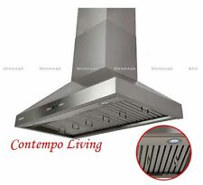 """Xtreme Air 30"""" European Wall Mount Stainless Steel Range Hood with Baffle Filter"""
