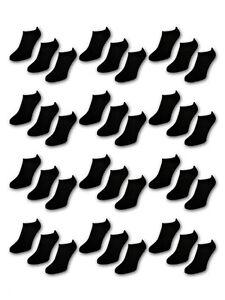 10 bis 50 Paar Sneaker Socken Herren Damen Schwarz Weiß Baumwolle Comfort