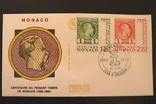 MONACO PREMIER JOUR FDC YVERT  1456/57    1 ER TIMBRE      1,70+2,10F       1985