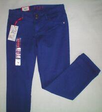 NWT NEW womens ladies size 2 blue purple ELLE slim skinny capris ankle jeans $44