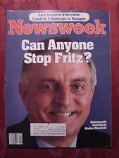 NEWSWEEK January 9 1984 WALTER MONDALE JOHN MADDEN +++