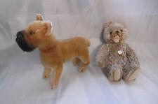 steiff peluches chien et ourson vintage