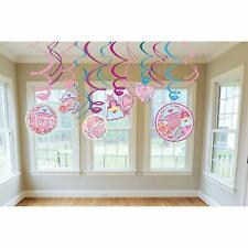 Sparkling Princess Pink Fancy Kids Birthday Party Hanging Swirl Decorations