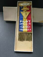 Knights of Pythias SAMPLE BADGE MEDAL IN BOX M. C. LILLEY & CO COLUMBUS OHIO