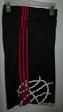 Medium Adidas Black Red White Casual Athletic Running Basketball Logo Shorts