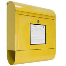 Briefkasten Wandbriefkasten Postkasten Zeitungsrolle Zeitungsfach Gelb V2Aox