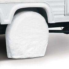 2 Casita Travel Trailer Vinyl Tire & Wheel Cover Covers Sun Protection White