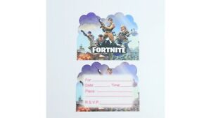 Fortnite designed gamer thick party invites  - 10 in pack same designs