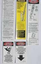 Werner Fiberglass Extension Ladder Labels (Model LFE100-300) - 6 pack