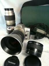 MINOLTA 360 si α SLR Film Camera with 3 Zoom lenses with  from japan MM45