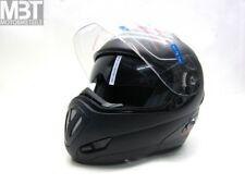 DMC MV-12 Klapphelm Motorradhelm Helm schwarz matt mit Sonnenblende ECE Gr. L