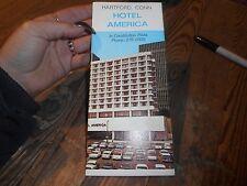 Vintage Hotel America Hartford Conn Brochure