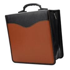 400 Disc CD DVD Holder Storage Case Bag Media Viedo Case Album Brown & Black