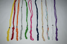 Macrame tumble stone Gemstone Holder LARGE Cotton Crystal Necklace POUCH ONLY