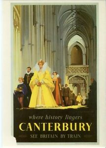 Drumahoe Postcard BR Canterbury where history lingers DGR77 repro poster Buckle