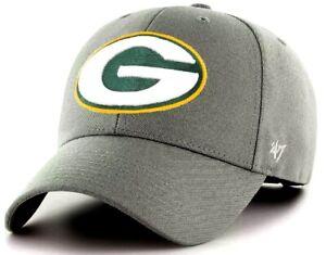Green Bay Packers NFL '47 MVP Dark Gray Structured Hat Cap Adult Mens Adjustable