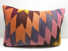 "Vintage Rug Kilim Lumbar Pillow Cover Long Pillow 20""x14"" Cushion Throw Pillows"