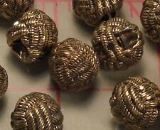 100 Vintage Antique Gold Faux Woven Shank Buttons Pendants Dangles 1/2