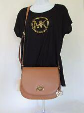 Michael Kors Bedford Pebbled Leather Flap Saddle Shoulder Crossbody Bag NEW