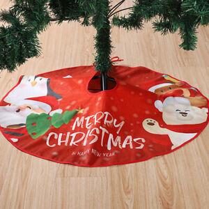 Christmas Tree Skirt Mat Christmas Holiday Party Decoration Decor~