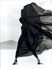 2000 Herb Ritts Semi Nude Female Model Versace Veiled Dress 1990 Art Photo