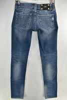 Miss Me Jeans Skinny Stretch Blue Jeans Tag Size 26 Womens Meas. 27x32.5