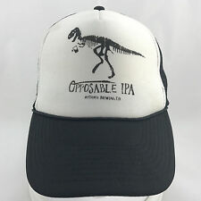 Opposable IPA Historic Brewing Co Mesh Foam Snapback Trucker Hat Cap Dinosaur