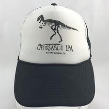 Opposable IPA Historic Brewing Co Mesh Foam Snapback Trucker Hat Cap Dinosaur