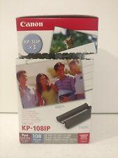 Canon KP-108IP x3 Cassette De Tinta de Color con 4x6 108 hojas de papel fotográfico Postal