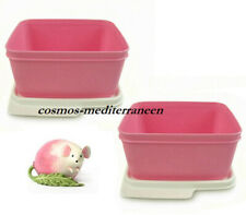 Tupperware set (2)  fresh maline boite 1,2l rose neuf dm